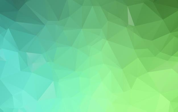 Grüne polygonale illustration, die aus dreiecken besteht. geometrischer hintergrund in der origami art mit steigung. dreieckiges design für ihr unternehmen.