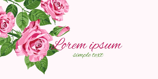Grüne rosa rosen blumenmuster grußkarte