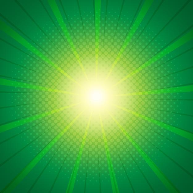 Grüne sonnenexplosion