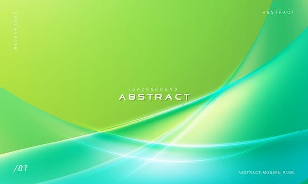 Grüne stilvolle zusammenfassung bewegt hintergrund wellenartig