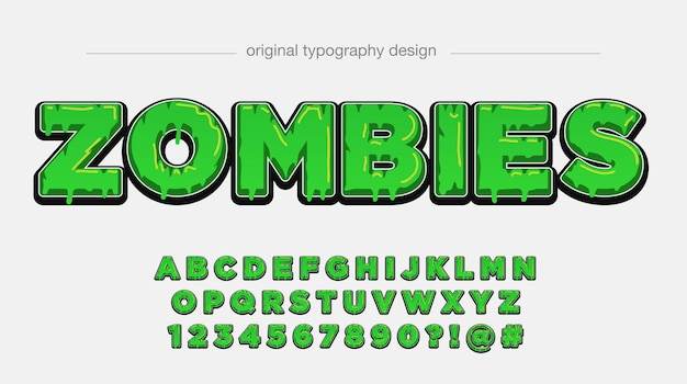 Grüne tropfende kühne typografie