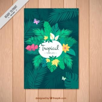 Grüne tropische plakat