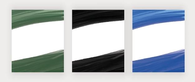 Grüne und blaue handzeichnung aquarellhintergründe