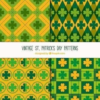 Grüne und gelbe muster für st patrick tag
