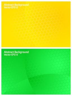 Grüne und gelbe vektorhintergründe