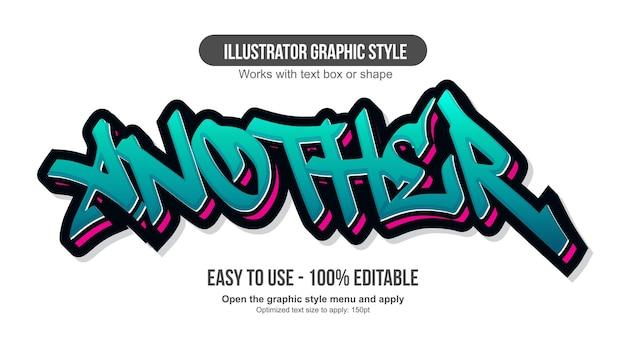 Grüne und rote 3d-graffiti-tag-typografie