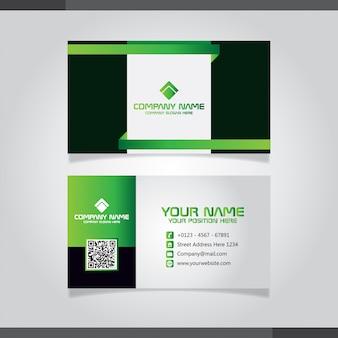 Grüne und schwarze moderne kreative visitenkarte und namenskarte