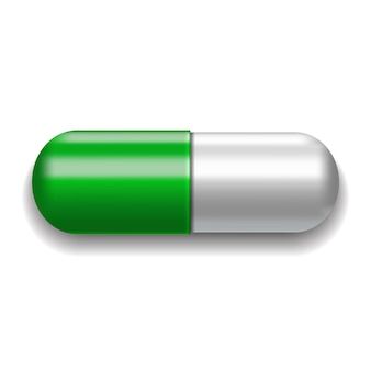 Grüne und weiße pille.