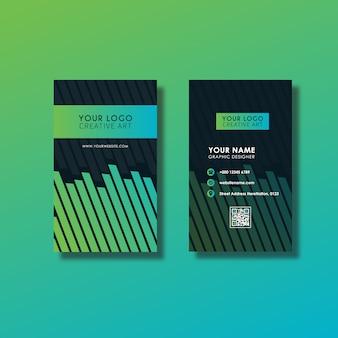 Grüne vertikale visitenkarte desig
