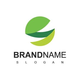 Grüne welt logo-vorlage