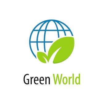 Grüne welt-logo