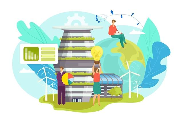 Grüne wirtschaft illustration