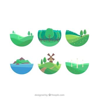 Grünen rollenbergen