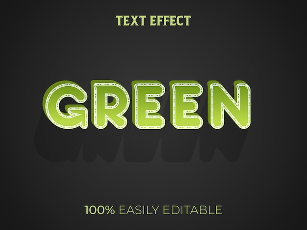 Grüner 3d-texteffekt