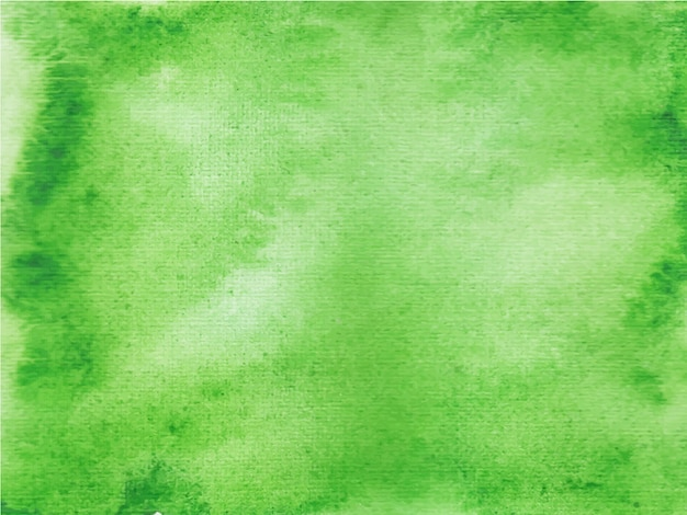 Grüner abstrakter aquarellhintergrund, handfarbe.