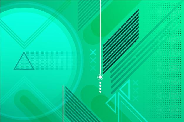 Grüner abstrakter geometrischer hintergrund