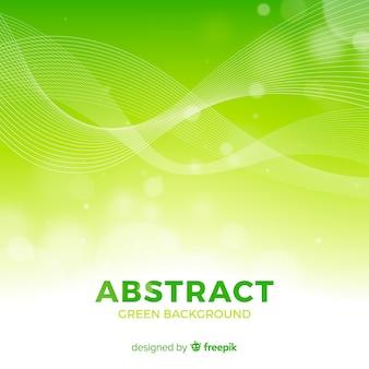 Grüner abstrakter hintergrund mit moderner art