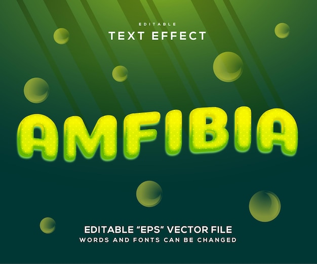 Grüner amphibien-texteffekt