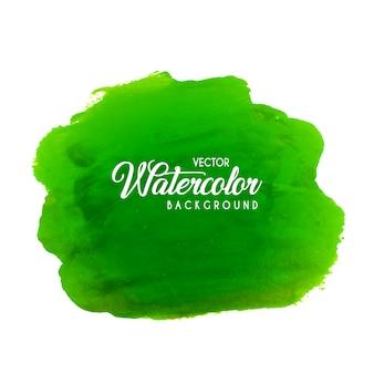 Grüner aquarell pinsel hintergrund