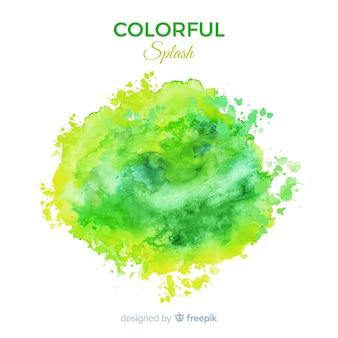Grüner aquarell spritzen hintergrund