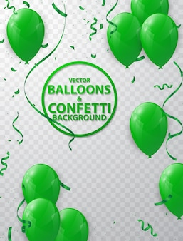Grüner ballon hintergrund