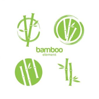 Grüner bambusgrafikdesignschablonenvektor