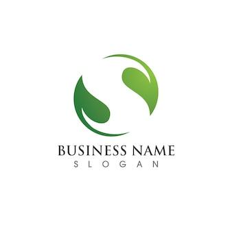 Grüner baum blatt logo ökologie natur element vektor Premium Vektoren