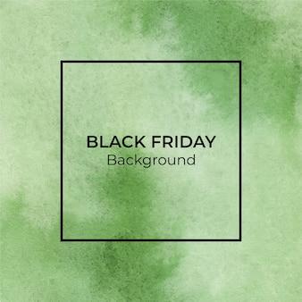 Grüner blackfriday-aquarellbeschaffenheitshintergrund