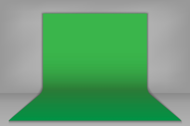 Grüner chroma-schlüsselhintergrund