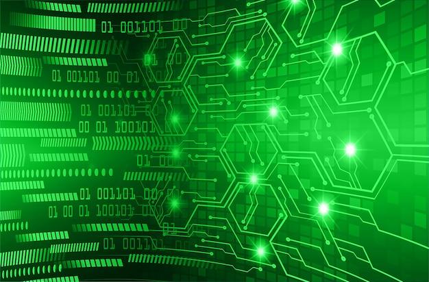 Grüner cyber-zukunftstechnologie-konzepthintergrund