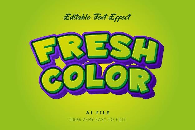 Grüner frischer cartoon-text-stil-effekt