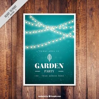 Grüner garten-party einladung design