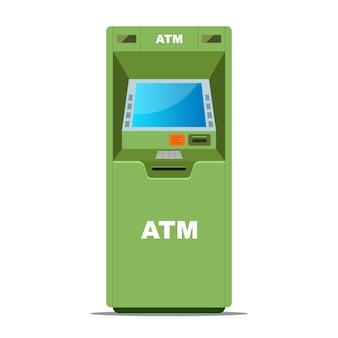 Grüner geldautomat für geldabhebungen