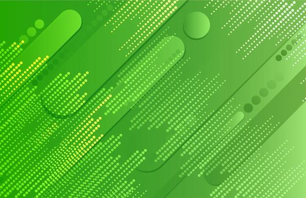 Grüner geometrischer formhintergrund der steigung