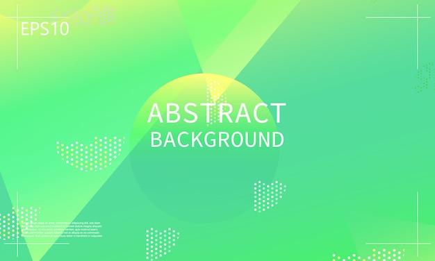 Grüner geometrischer hintergrund. minimales abstraktes cover-design. trendy farbverlaufsplakat.
