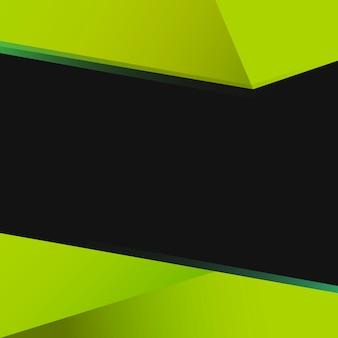 Grüner geometrischer hintergrunddesignvektor