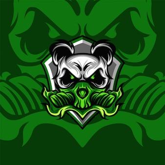 Grüner giftiger panda