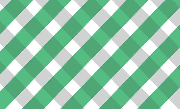 Grüner ginghammuster-vektorhintergrund editierbar