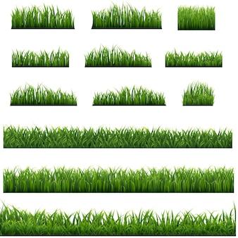 Grüner grasrahmen isoliert