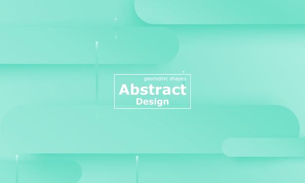 Grüner hintergrund. flüssige formen. minimale abstrakte abdeckung