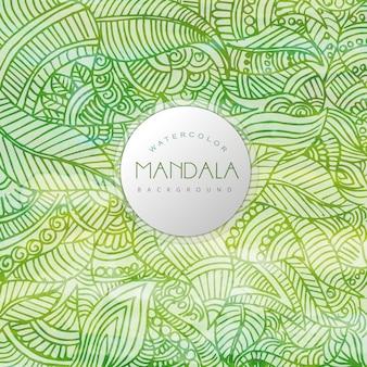 Grüner hintergrund mandala design