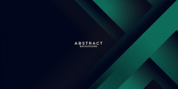 Grüner hintergrund mit 3d geschichtetem streifenlicht. vektor-illustrationsdesign für präsentation, banner, abdeckung, web, flyer, karte, poster, tapete