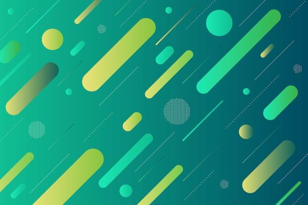 Grüner hintergrund mit grünen abstrakten formen