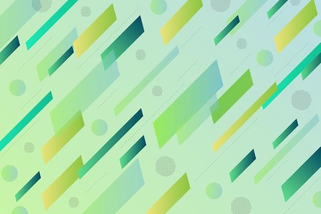 Grüner hintergrund mit grünen formen