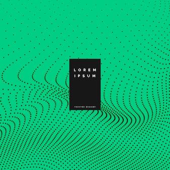 Grüner hintergrund mit partikel-effekt vektor-illustration