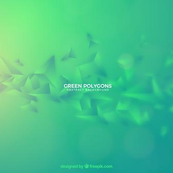 Grüner hintergrund mit polygonalen formen
