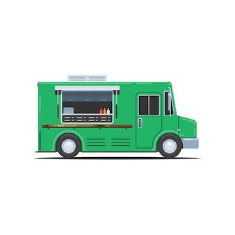 Grüner imbisswagen