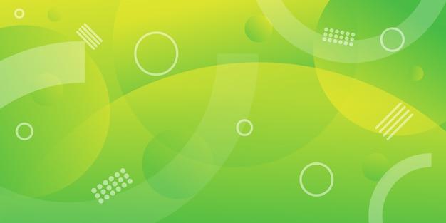 Grüner kreis farbverlauf modernen hintergrund