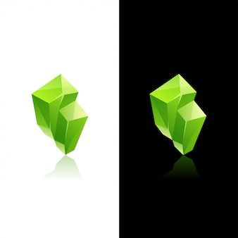 Grüner kristallstein