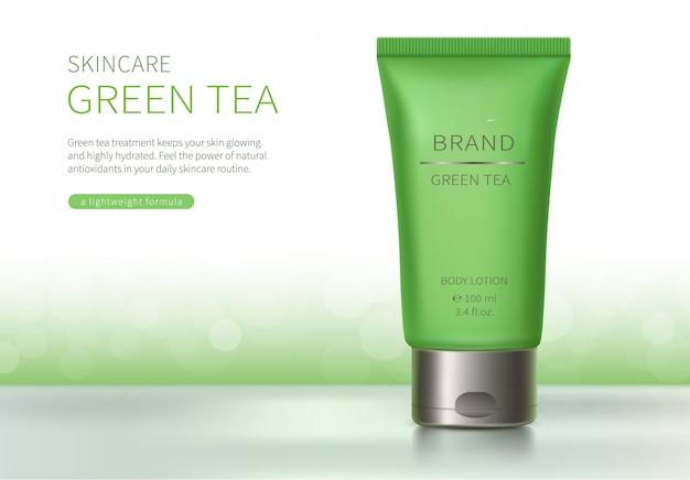Grüner kunststoffschlauch